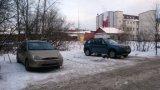 Незаконное огорождение для парковки